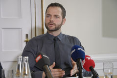 PRESS CONFERENCE ABOUT DANISH GROWTH 2015 Royalty Free Stock Photos