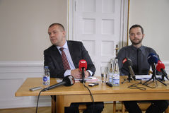 PRESS CONFERENCE ABOUT DANISH GROWTH 2015 Stock Images