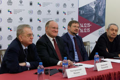 Press conference devoted to the preparations for St. Petersburg International cultural forum Stock Images
