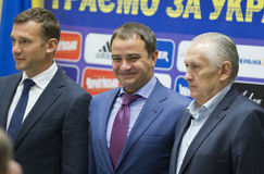 Press-conference of Head coach of National Football team of Ukra Royalty Free Stock Photography