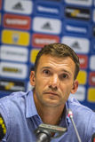 Press-conference of Head Coach of Ukraine National Football Team Stock Photography