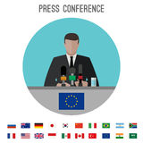 Press conference icon Royalty Free Stock Images
