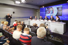 Press conference before international basketball tournament cup Royalty Free Stock Photography