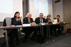 Press conference of Jean-Marie Nicolas Stock Photography