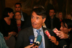 Press conference of Jean-Paul Alduy. Senator-Mayor of Perpignan. At the City Hall in Perpignan, France on April 27, 2009 Stock Photos