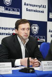 Press-conference for journalists with participation of the management of the Gorky auto plant. Stock Photos