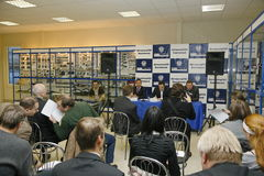 Press-conference for journalists with participation of the management of the Gorky auto plant. Stock Photography