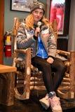 A press conference after the Killington Cup at Killington Ski Resort royalty free stock image