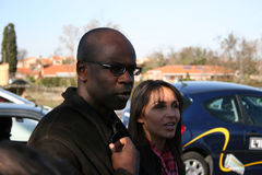 Press conference of Lilian Thuram Royalty Free Stock Image