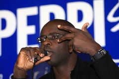 Press conference of Lilian Thuram Royalty Free Stock Photo