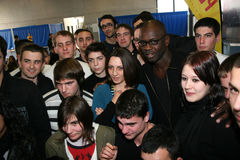 Press conference of Lilian Thuram Stock Image
