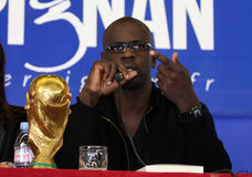 Press conference of Lilian Thuram Stock Photography