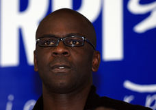 Press conference of Lilian Thuram Royalty Free Stock Photos