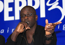 Press conference of Lilian Thuram Stock Images