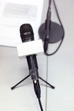 Press conference mic Royalty Free Stock Photo