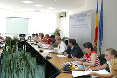 Press conference Stock Photos