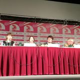 Press-conference of the movie The Avian Kind. (South Korea) at 36th Moscow International Film Festival. The movie is represented within the main competition of Stock Images