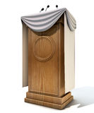 Press Conference Podium With Draping Royalty Free Stock Photography
