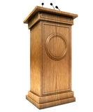 Press Conference Podium Royalty Free Stock Photo