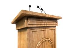 Press Conference Podium Royalty Free Stock Photo