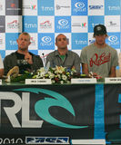 Press Conference of Rip Curl Pro 2010 Royalty Free Stock Images