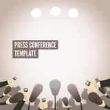 Press conference template Stock Photos