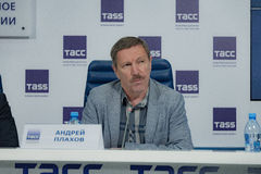Press conference 38th moscow international film festival Stock Photo