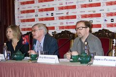Press-conference of 37th Moscow International Film Festival Royalty Free Stock Photography