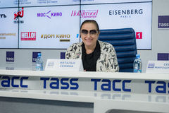 Press-conference of 38th Moscow International Film Festival Royalty Free Stock Photography