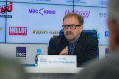 Press conference 38th moscow international film festival Royalty Free Stock Photos