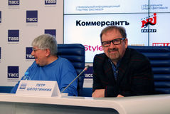 Press-conference of 38th Moscow International Film Festival Royalty Free Stock Image
