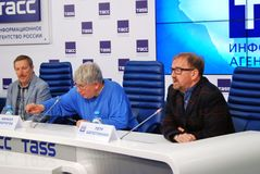 Press-conference of 38th Moscow International Film Festival Stock Image