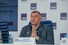 Press conference 38th moscow international film festival Royalty Free Stock Images
