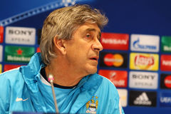 Press-Conference before UEFA Champions League game Dynamo Kyiv v Stock Photography