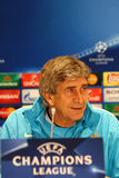 Press-Conference before UEFA Champions League game Dynamo Kyiv v Royalty Free Stock Images