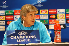 Press-Conference before UEFA Champions League game Dynamo Kyiv v Royalty Free Stock Image