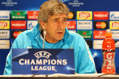 Press-Conference before UEFA Champions League game Dynamo Kyiv v Stock Images