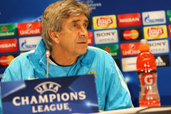Press-Conference before UEFA Champions League game Dynamo Kyiv v Royalty Free Stock Photography