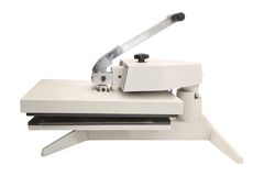 Press for cutting paper Stock Image