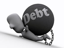Press by Debt Stock Photo