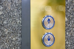 Press the elevator up and keypad elevator. And bokeh Royalty Free Stock Photos