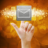 In press email icon on touch screen Stock Photo