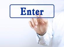 Press enter button Royalty Free Stock Photography