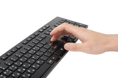 Press enter key Stock Photography