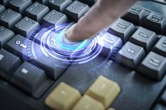 Press the Enter key Royalty Free Stock Images