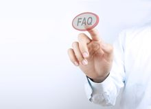 Press faq button Royalty Free Stock Photos