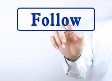 Press follow button Royalty Free Stock Photos