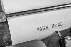 Press freedom concept. Fake news, a press freedom concept Stock Images