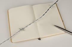 Press freedom. Lack of press freedom, a conceptual still life Stock Image