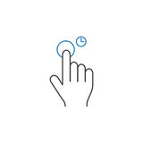Press and Hold line icon, touch and hand gestures. Vector graphics, a color linear pattern on a white background, eps 10 royalty free illustration